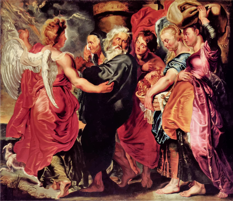 Lot Leaves Sodom with His Family By Peter Paul Rubens