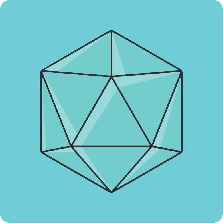 20 sided dice icon