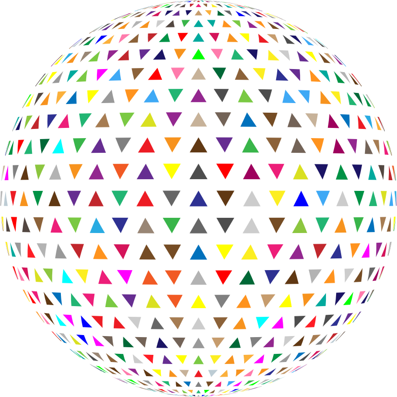 Colorful Interlocking Triangles Sphere