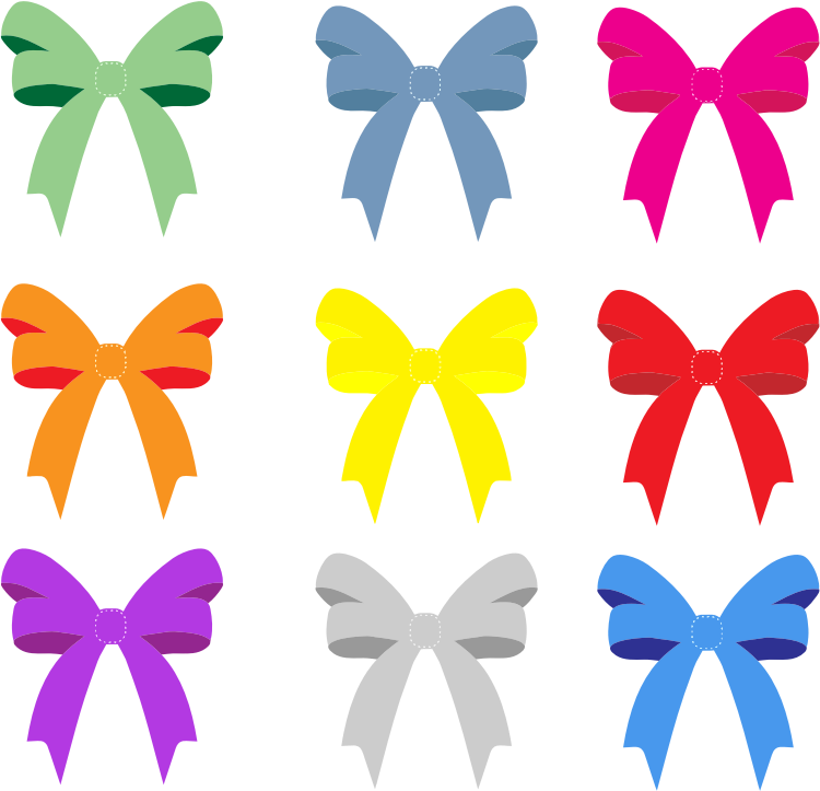 Colorful Bows And Ribbons