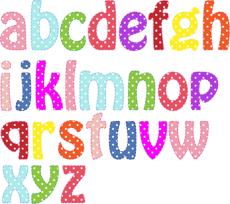 Colorful Alphabet Lowercase