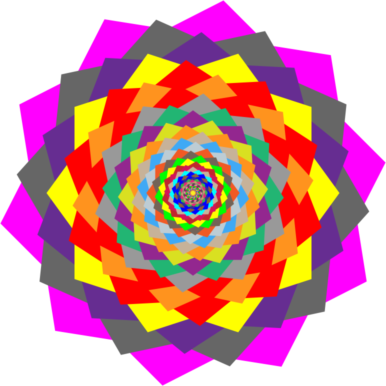 Colorful Rosette