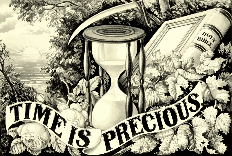 Vintage Time Is Precious Illustration