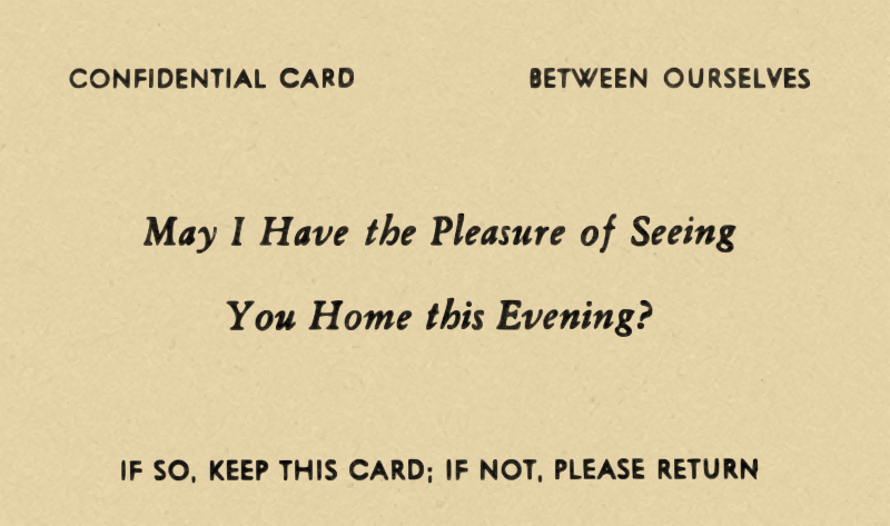 Confidential Card - Between Ourselves