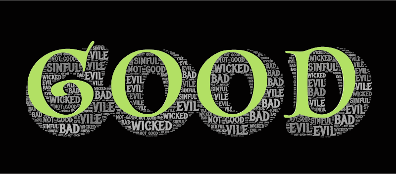Good Evil Typography