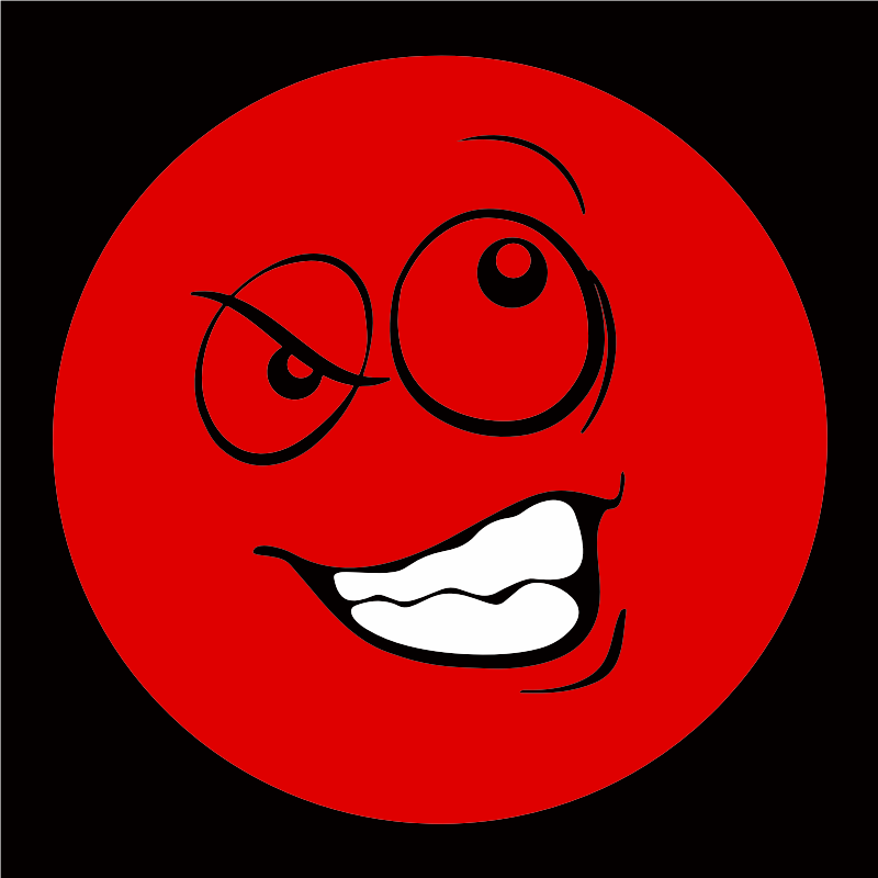 Red Smiley Emoticon 2