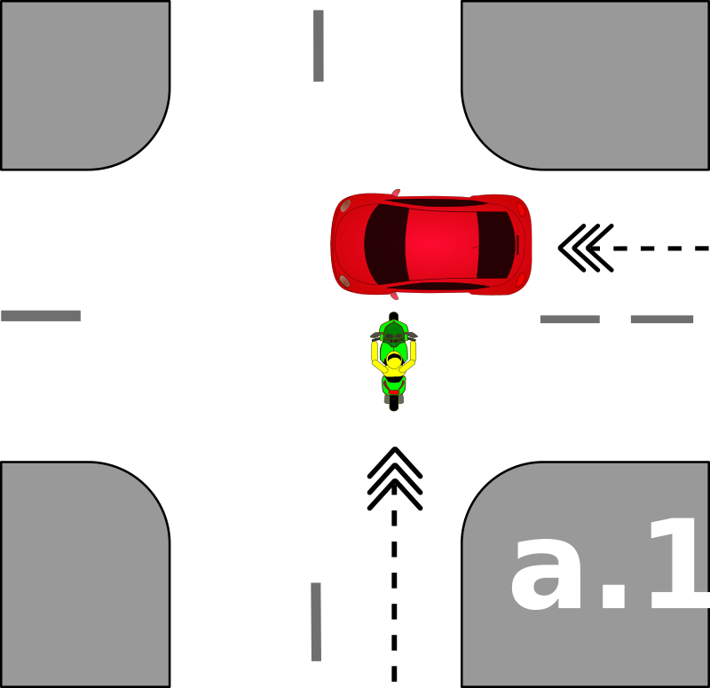 traffic accident pictograms a.1