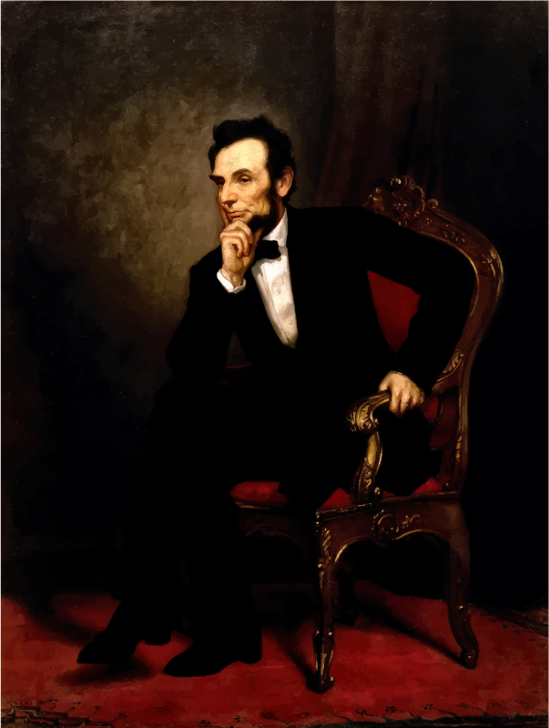 Abraham Lincoln Oil Painting 1869 Restored
