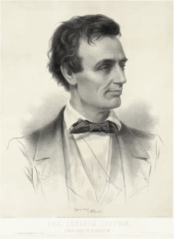 Presidential Candidate Abraham Lincoln 1860
