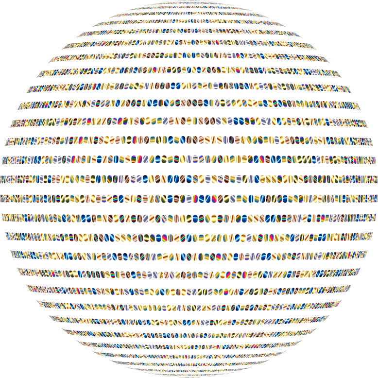 Colorful Ellipses Sphere