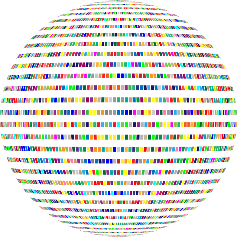 Colorful Rectangles Sphere