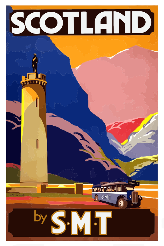 Vintage Travel Poster Scotland