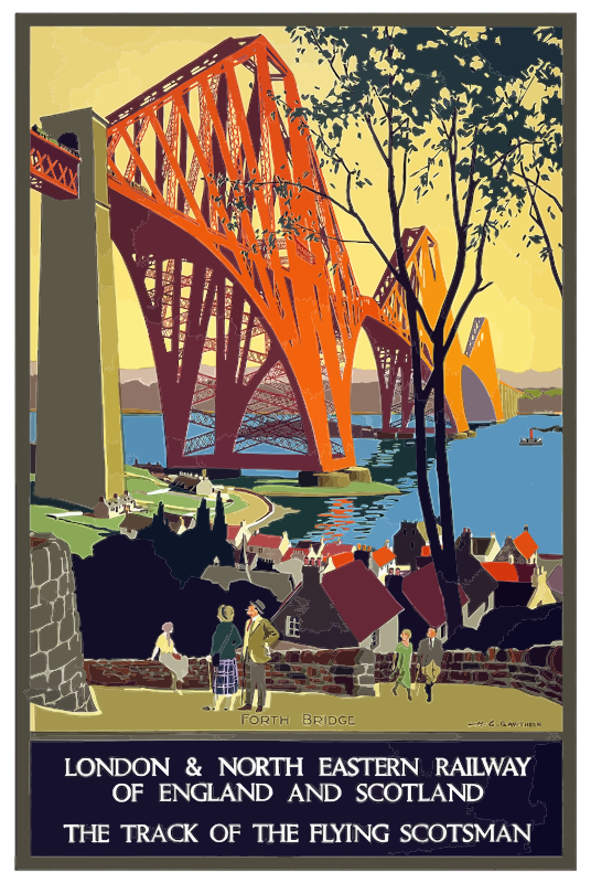 Vintage Travel Poster England And Scotland