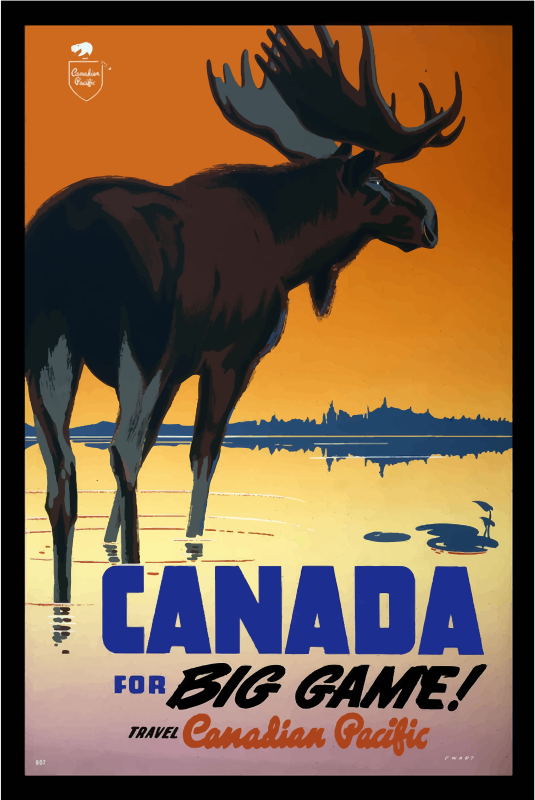 Vintage Travel Poster Canada