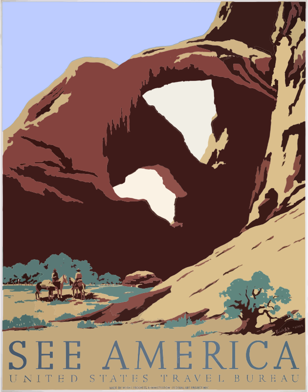 Vintage Travel Poster Southwest America USA