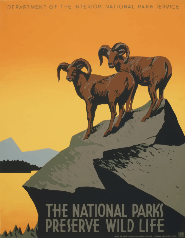 Vintage Travel Poster National Parks America USA