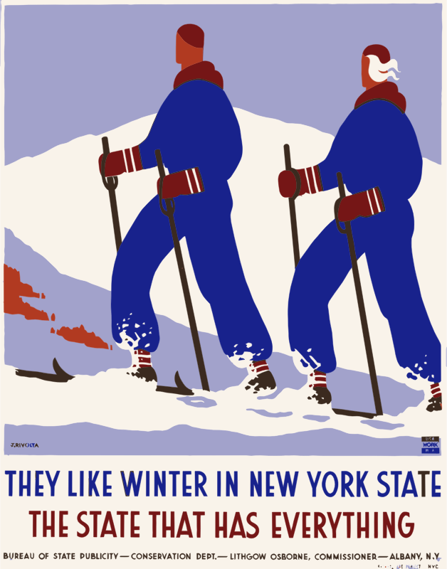 Vintage Travel Poster New York America USA
