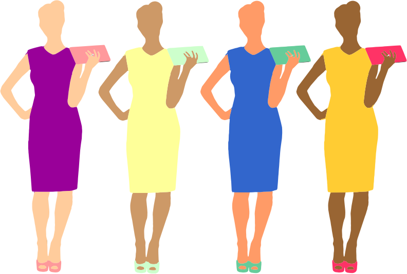 Four Colorful Women