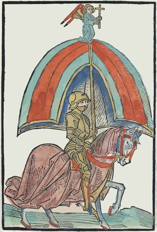 Knight Wearing Gothic Armor On A Horse