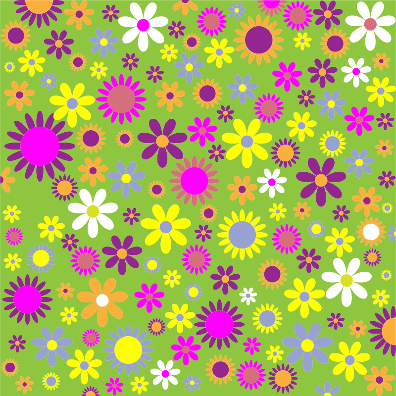Colorful Floral Pattern Background 6