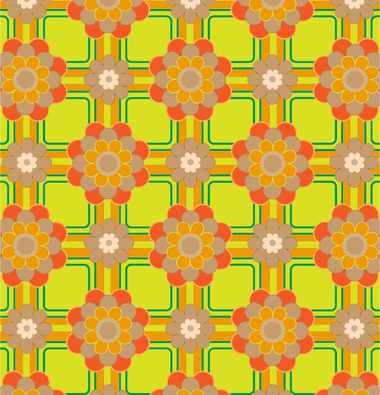 Colorful Floral Pattern Background 4