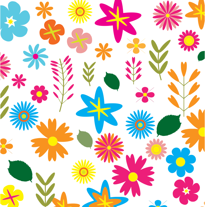 Colorful Floral Pattern Background 3