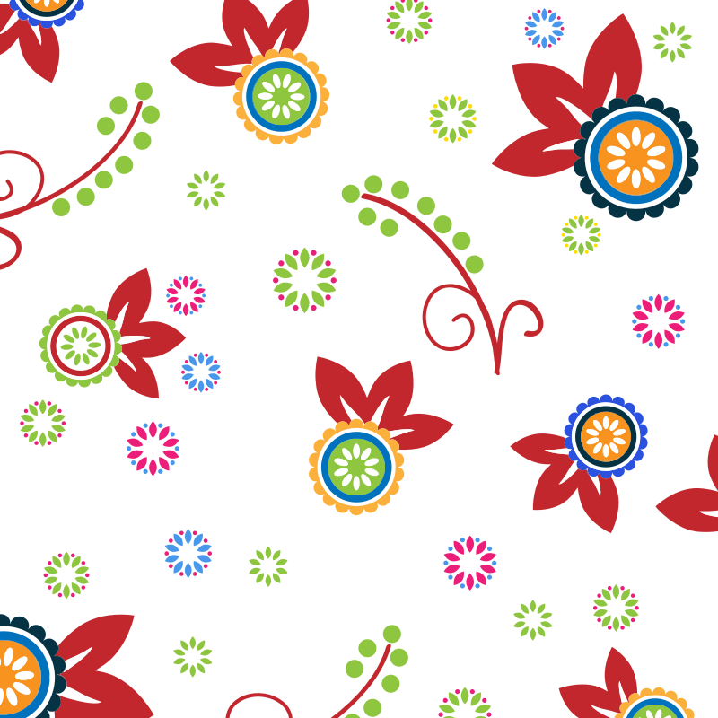 Colorful Floral Pattern Background 2