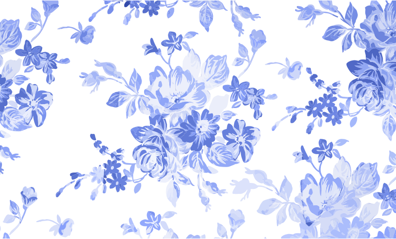 Blue Floral Watercolor Background