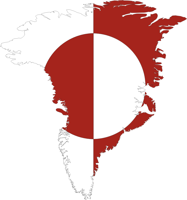Greenland Map Flag