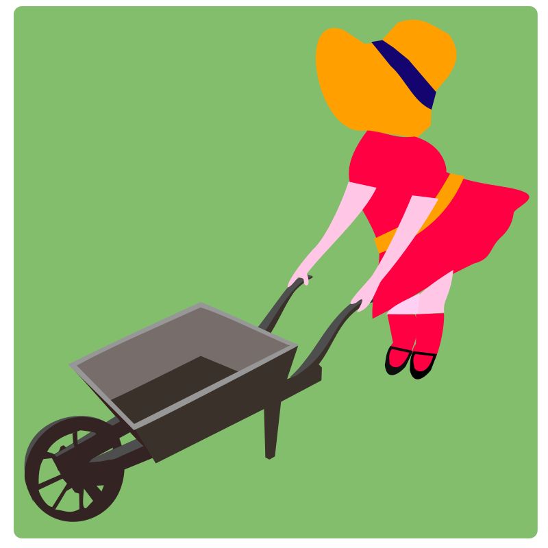 Wheel-barrow-girl