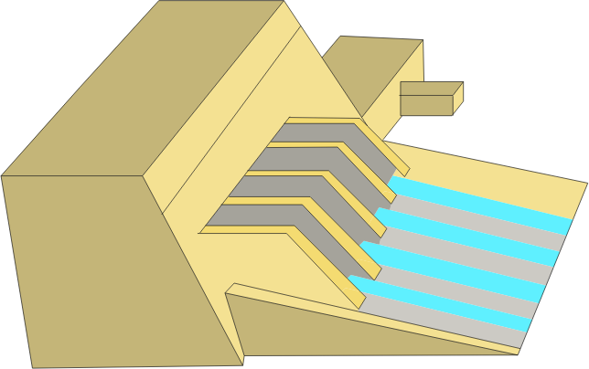 Hydroelectric dam - colored