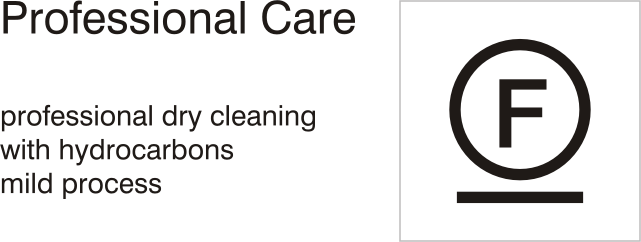 Care symbols, professional care: dry clean with hydrocarbons - mild process