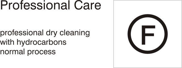 Care symbols, professional care: dry clean with hydrocarbons - normal process