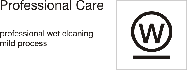 Care symbols, professional care: wet clean - mild process