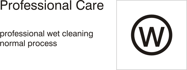 Care symbols, professional care: wet clean - normal process
