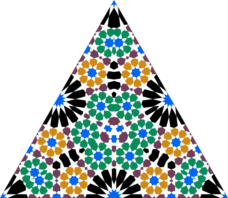 Seamless Alhambra Triangle