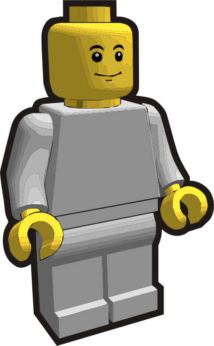 Clip is a Brick - Minifig 1