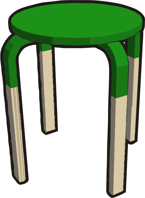 Ikea stuff - Frosta stool, half green