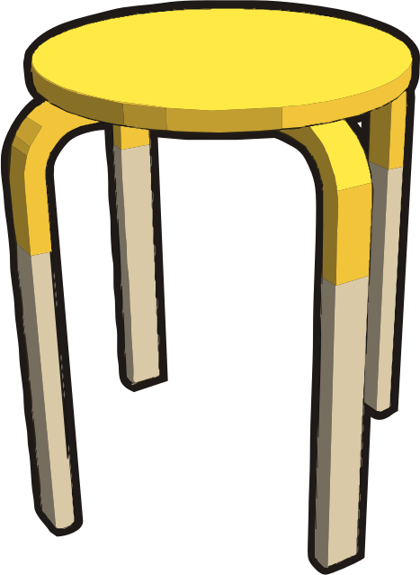Ikea stuff - Frosta stool, half yellow
