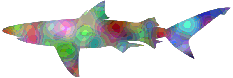 Psychedelic shark
