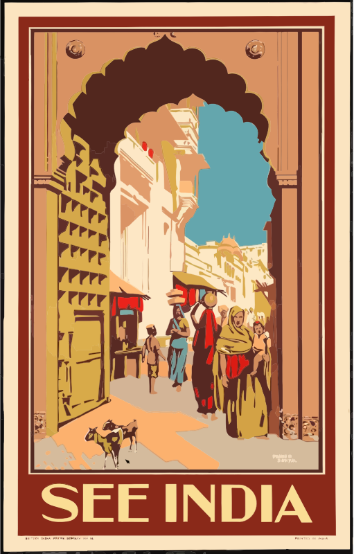 Vintage Travel Poster India 2