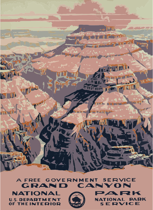 Vintage Travel Poster Grand Canyon
