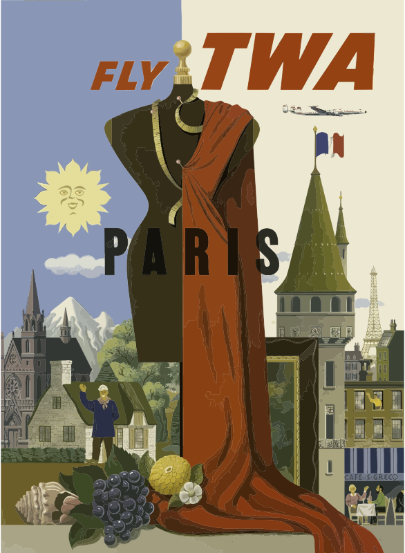 Vintage Travel Poster Paris
