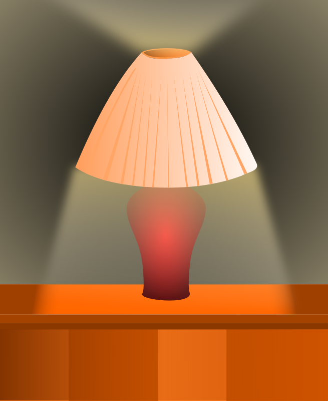 Shaded-lamp