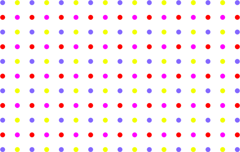 Seamless Colorful Sparse Polka Dot Pattern