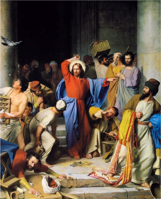 Jesus Casting Out Money Changers