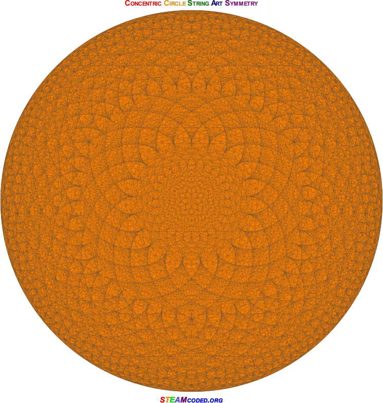 Concentric Circle Symmetry 6