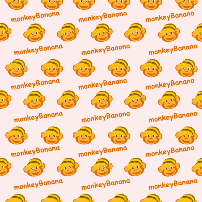 monkeyBanana-seamless-pattern