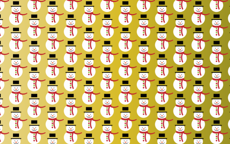 Snow Man Seamless Pattern
