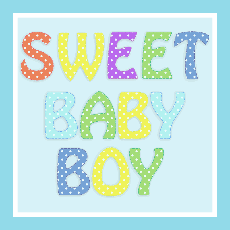 Sweet Baby Boy Typography